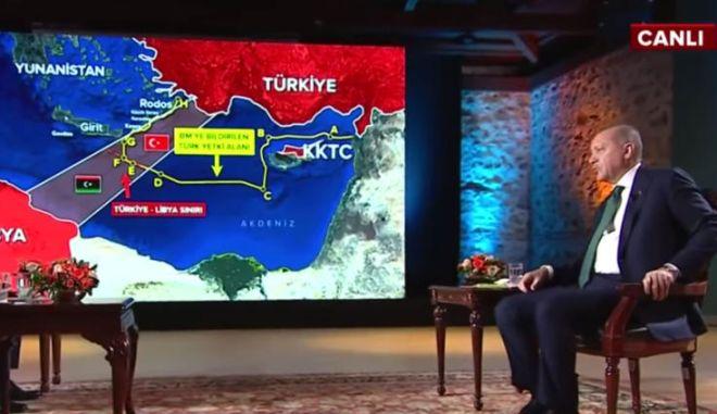 Ερντογάν: Νέο σόου με απειλές για γεωτρήσεις σε Κρήτη και Καστελόριζο