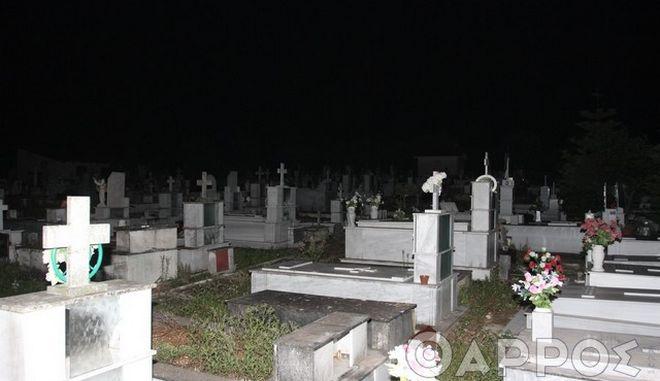 Φωτογραφία από το νεκροταφείο της περιοχής