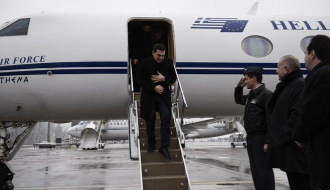 Ο πρωθυπουργός Αλέξης Τσίπρας στο Νταβός της Ελβετίας για τις εργασίες του Παγκόσμιου Οικονομικού Φόρουμ την Τετάρτη 20 Ιανουαρίου 2016. (EUROKINISSI/ΓΡΑΦΕΙΟ ΤΥΠΟΥ ΠΡΩΘΥΠΟΥΡΓΟΥ/ANDREA BONETTI)
