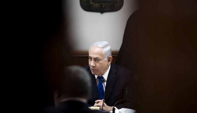 O πρωθυπουργός του Ισραήλ, Μπέντζαμιν Νετανιάχου