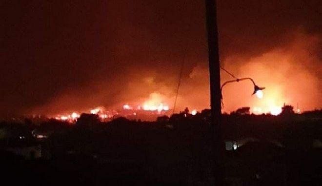 Σε ύφεση η φωτιά στη Ζάκυνθο