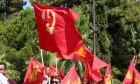 Σημαίες του ΚΚΕ και της ΚΝΕ