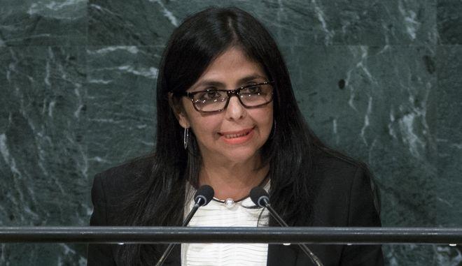 Η αντιπρόεδρος της Βενεζουέλας Ντέλσι Ροντρίγκες
