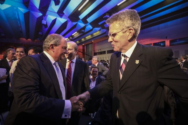 Ο πρώην πρωθυπουργός με τον αμερικανό πρεσβευτή