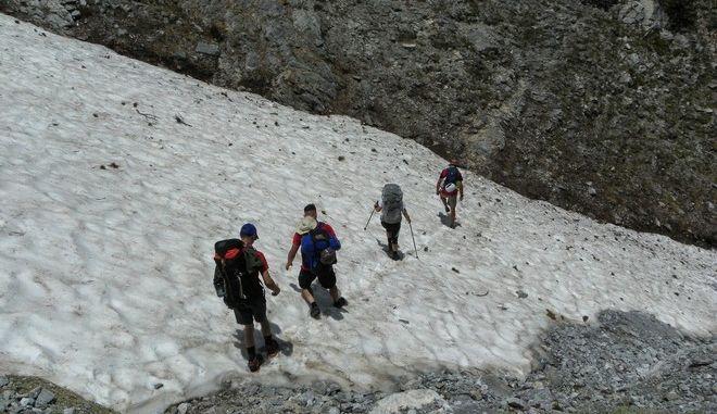 Ορειβάτες στον Όλυμπο (φωτογραφία αρχείου)