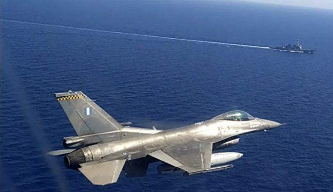 Εικόνα από στρατιωτική άσκηση στο Αιγαίο