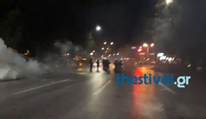 Θεσσαλονίκη: Ένταση και επεισόδια στην πορεία για τον Κατσίφα