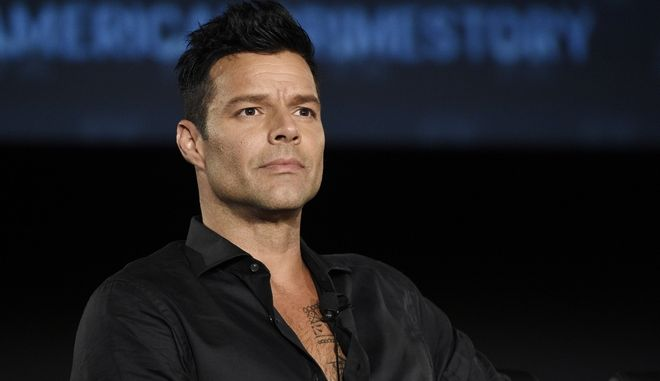 """Ricky Martin, a cast member in the FX series """"The Assassination of Gianni Versace: American Crime Story,"""" takes part in a panel discussion on the show during the 2017 Television Critics Association Summer Press Tour at 20th Century Fox Studios on Wednesday, Aug. 9, 2017, in Los Angeles. (Photo by Chris Pizzello/Invision/AP)"""