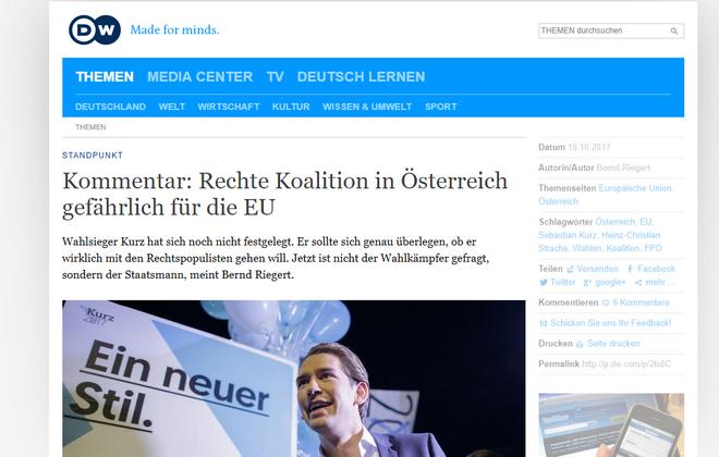 'Η Αυστρία βυθίζεται στον λαϊκισμό': Ο γερμανικός Τύπος για τις αυστριακές εκλογές