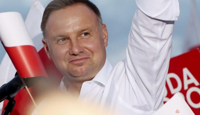 Ο πρόεδρος της Πολωνίας Αντρέι Ντούντα