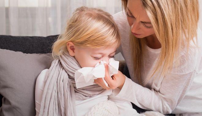 Παιδί με γρίπη