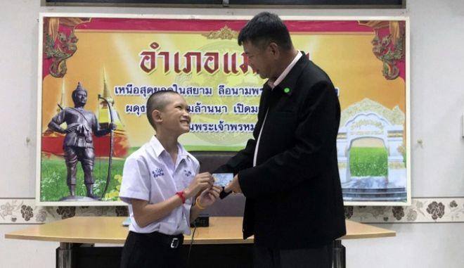 """Τα μέλη των """"Αγριόχοιρων"""" που δεν είχαν πατρίδα, έγιναν Ταϊλανδοί  (Chiang Rai Public Relations Office via AP)"""