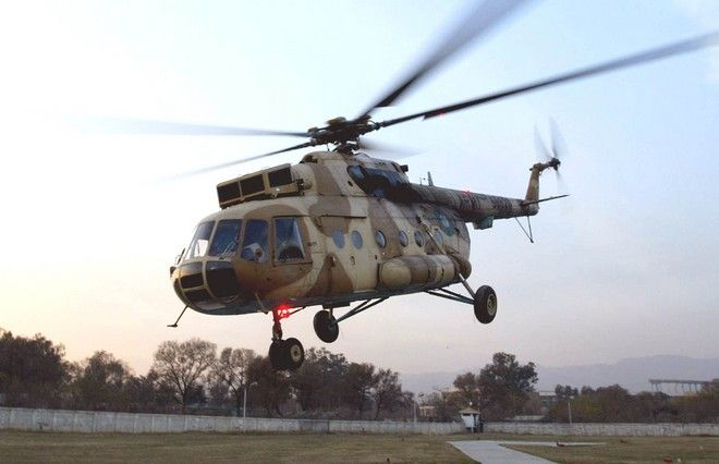 Ρωσικής κατασκευής ελικόπτερο MI-17 του Πακιστάν