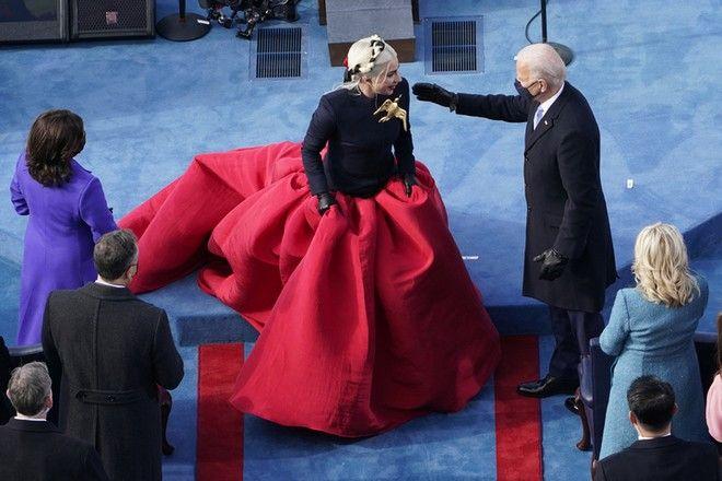 Η Lady Gaga στην τελετή ορκομωσίας του Τζο Μπάιντεν