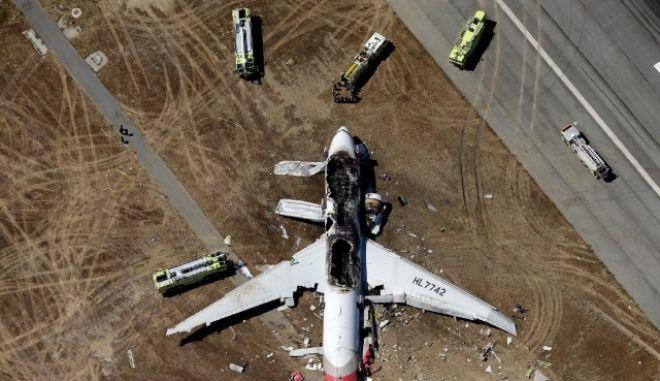 Asiana Airlines: Ενδεχομένως από λάθος του πιλότου το δυστύχημα στο Σαν Φρανσίσκο