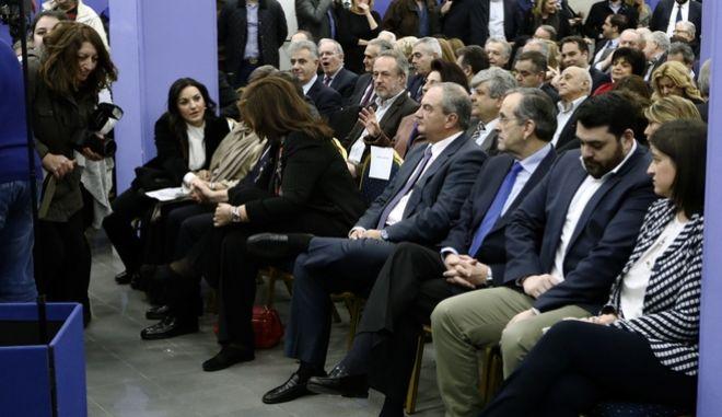 Συνεδρίαση της Πολιτικής Επιτροπής της Νέας Δημοκρατίας την τετάρτη 24 Ιανουαρίου 2018. (EUROKINISSI/ΓΙΩΡΓΟΣ ΚΟΝΤΑΡΙΝΗΣ)