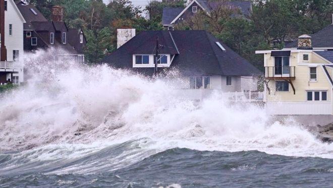 Καταστροφές από τον τυφώνα Άιντα στις ΗΠΑ