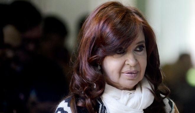 Η αντιπρόεδρος της Αργεντινής Κριστίνα Φερνάντες δε Κίρσνερ