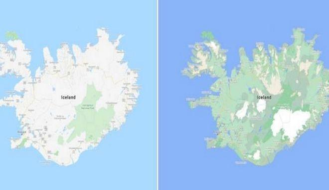 Google Maps: Περισσότερο χρώμα για τους διαφορετικούς τύπους εδάφους