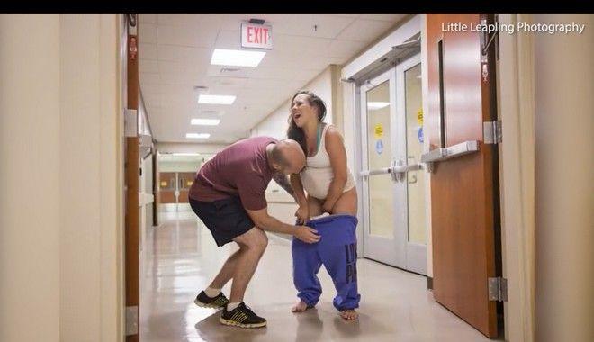 Απίστευτες εικόνες: Γυναίκα γέννησε όρθια στο διάδρομο του μαιευτηρίου