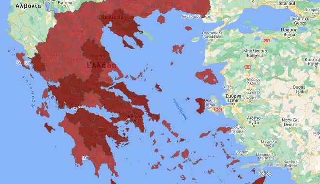 """Κορονοϊός: Ποιες περιοχές εντάσσονται στο """"βαθύ κόκκινο"""""""