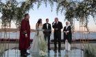 Ο Τούρκος πρόεδρος Ρετζέπ Ταγίπ Ερντογάν στον γάμο του πρώην διεθνούς ποδοσφαιριστή της Γερμανίας Μεσούτ Οζίλ