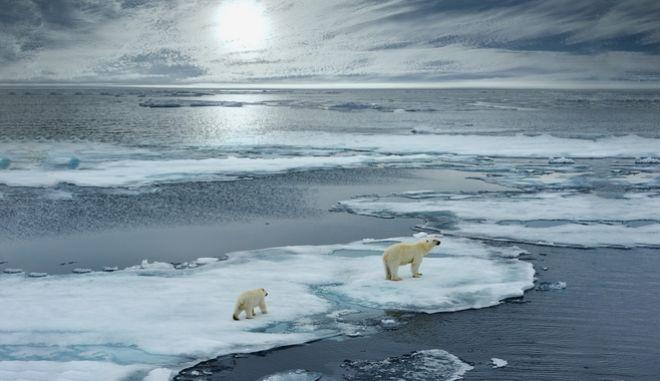 Κλιματική αλλαγή , λιώσιμο των πάγων