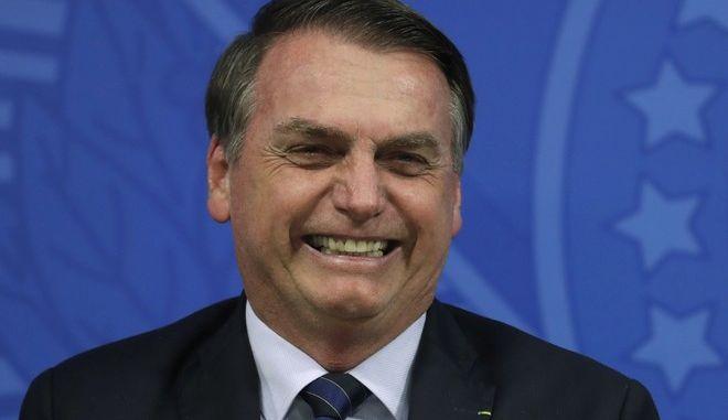 Ο πρόεδρος της Βραζιλίας Ζαΐχ Μπολσονάρο στο προεδρικό μέγαρο