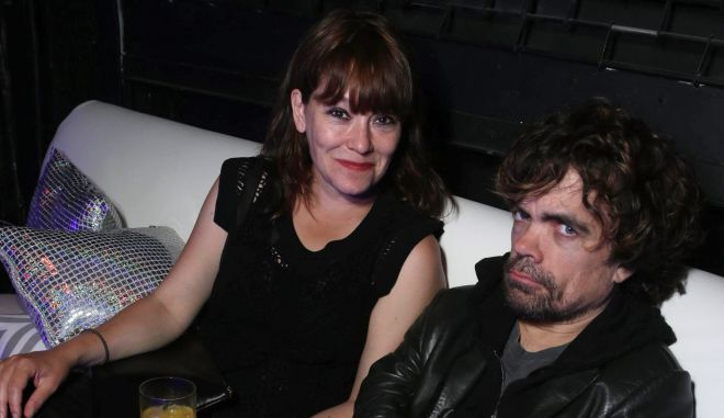 Erica Schmidt and Peter Dinklage seen at the Twentieth Century Fox Global Premiere of 'X-Men: Days of Future Past' held at the Jacob K. Javits Convention Center on Saturday, May 10, 2014, in New York City. (Photo by Eric Charbonneau/Invision for Twentieth Century Fox/AP Images)