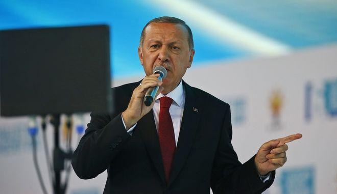 Ο Πρόεδρος της Τουρκίας, Ρετζέπ Ταγίπ Ερντογάν