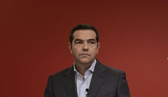 O πρόεδρος του ΣΥΡΙΖΑ-Προοδευτική Συμμαχία Αλέξης Τσίπρας