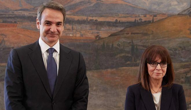 Η Κατερίνα Σακελλαροπούλου και ο Κυριάκος Μητσοτάκης