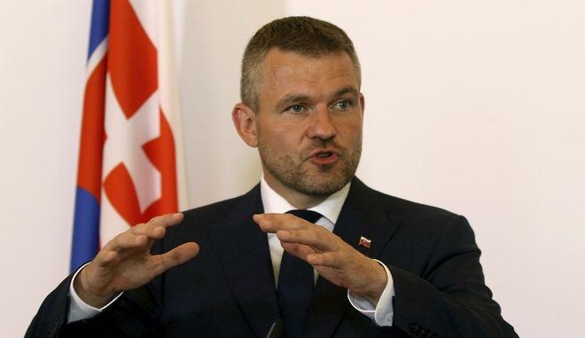 Ο  σοσιαλδημοκράτης επικεφαλής της κυβέρνησης της Σλοβακίας, Πέτερ Πελεγκρίνι