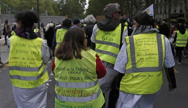 25η κινητοποίηση των Κίτρινων Γιλέκων στη Γαλλία (AP Photo/Rafael Yaghobzadeh)