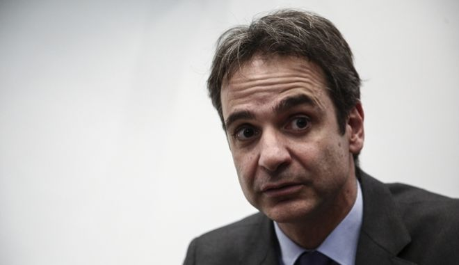 Meeting between the president of New Democracy party, Kyriakos Mitsotakis and the General Secretary of Communist Party of Greece Dimitris Koutsoumpas, in Athens, on January 22, 2016 /       ,          ,  ,  ,  22  2016
