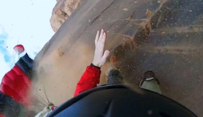 Τρομακτικό βίντεο: Η αγωνία της πτώσης σε ατύχημα BASE Jump