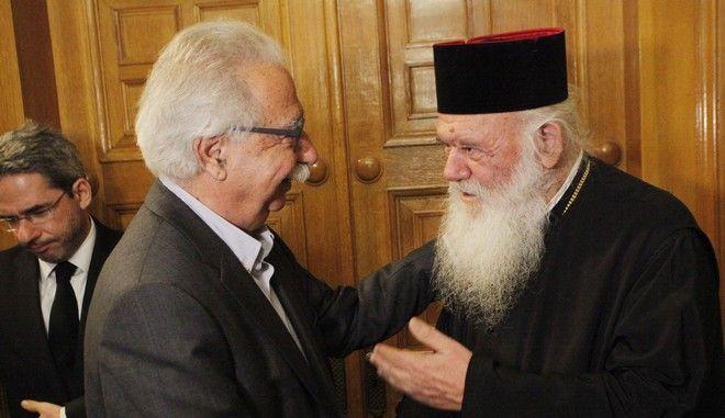 Συνάντηση του αρχιεπισκόπου Ιερωνύμου με τον υπουργό Παιδείας, Κώστα Γαβρόγλου
