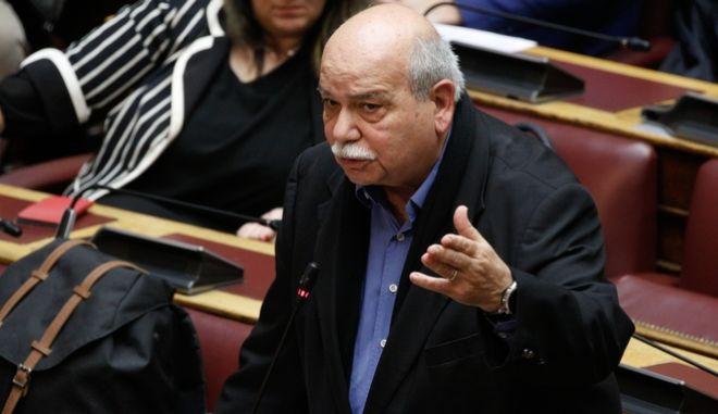 Ο βουλευτής του ΣΥΡΙΖΑ, Νίκος Βούτσης. (EUROKINISSI/ΓΙΩΡΓΟΣ ΚΟΝΤΑΡΙΝΗΣ)