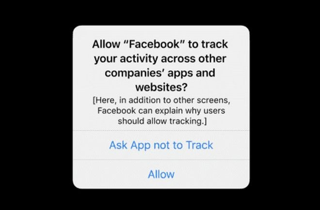 H ειδοποίηση της Apple για το Facebook.