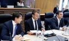 Άτυπη συνάντηση εργασίας της Ευρωπαϊκής Ενωσης για το προσφυγικό/μεταναστευτικό και το άσυλο, την Κυριακή 24 Ιουνίου 2017, στις Βρυξέλλες. Οι πρωθυπουργοί της Ιταλίας Τζουζέπε Κόντε, της Γαλλίας Εμμανουέλ Μακρόν και της Ελλάδας. Αλέξης Τσίπρας