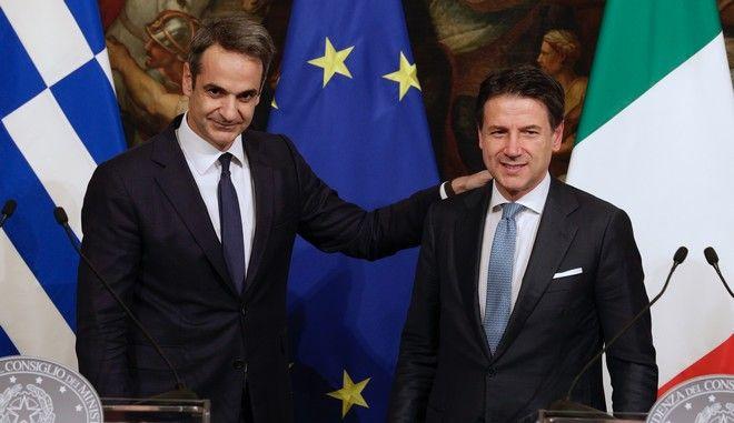 Οι πρωθυπουργοί Ελλάδας και Ιταλίας