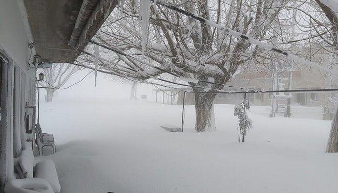 Χιόνια στα ορεινά των Χανίων