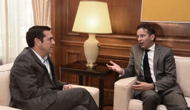Συνάντηση του Πρωθυπουργού Αλέξη Τσίπρα με τον επικεφαλής του Eurogroup Γερούν Ντάισελμπλουμ την Δευτέρα 25 Σεπτεμβρίου 2017, στο Μέγαρο Μαξίμου. (EUROKINISSI/ΤΑΤΙΑΝΑ ΜΠΟΛΑΡΗ)