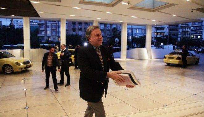 ΑΘΗΝΑ-Ο Υπουργός Εργασίας Γιώργος Κατρούγκαλος συναντήθηκε με την Τρόικα στο ξενοδοχείο Χίλτον.(Eurokinissi-ΠΑΝΑΓΟΠΟΥΛΟΣ ΓΙΑΝΝΗΣ)
