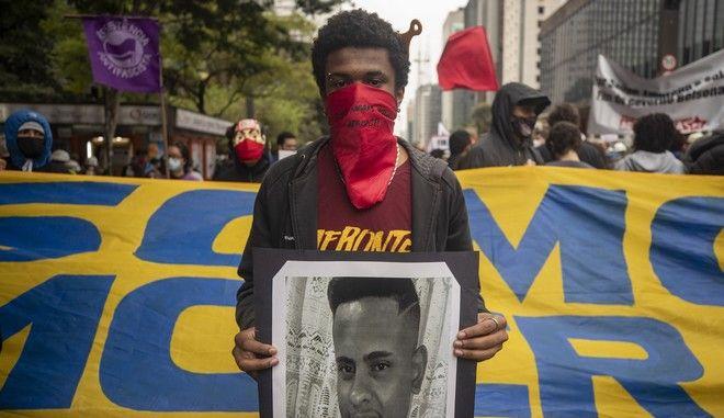 Διαμαρτυρία για τον πρόεδρο Μπολσονάρου