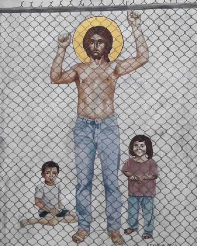 Κύπρος: Αντιδράσεις για πίνακες εκπαιδευτικού που απεικονίζουν τον Χριστό γυμνό