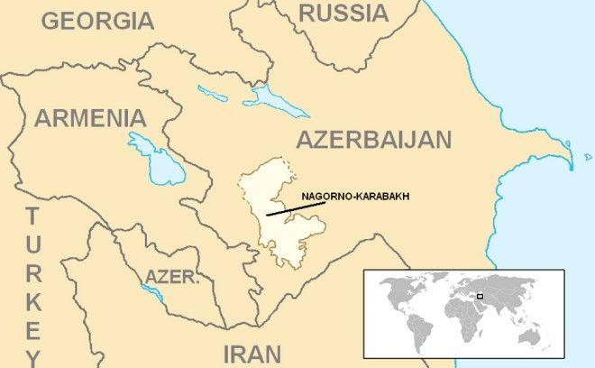 Χάρτης του Ναγκόρνο-Καραμπάχ