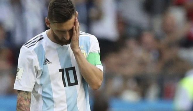 O Λιονέλ Μέσι αποτελούσε την τραγική φιγούρα μετά από το τέλος της αναμέτρησης μεταξύ Γαλλίας και Αργεντινής
