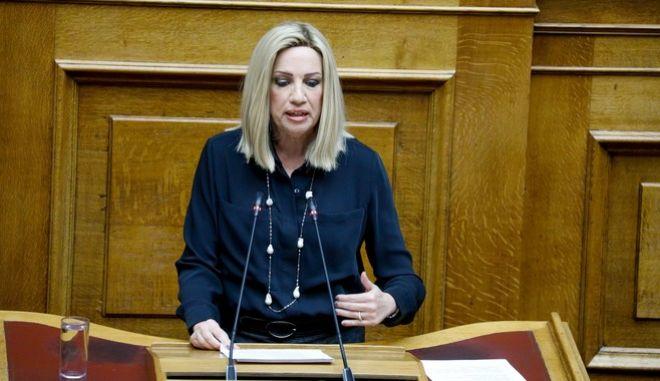Η Φώφη Γεννηματά σε συζήτηση του ν/σ για το φορολογικό στη Βουλή