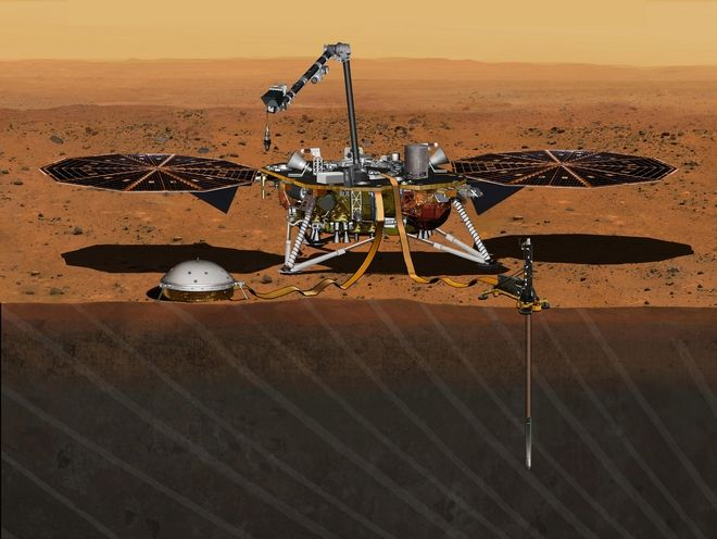 To InSight μελετά το εσωτερικό του Άρη
